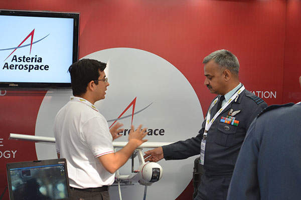 The CYGNUS A10 UAS was introduced at UV India 2013 conference. Image: courtesy of Asteria Aerospace.