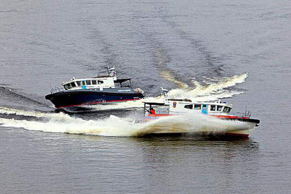 The 14M high-speed patrol boat is built by Laky Verf. Image: courtesy of Interpolitex.
