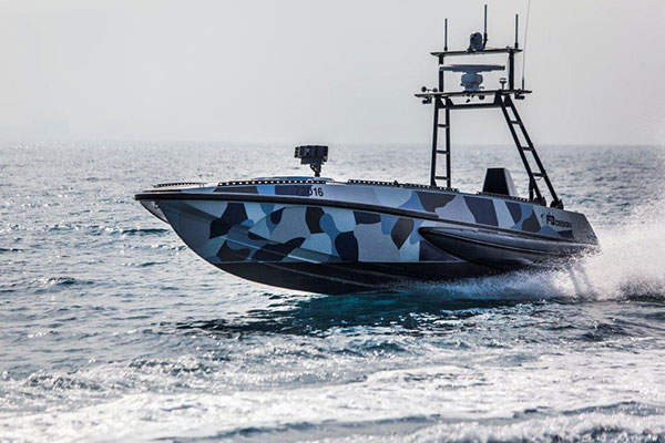 The Katana combat vessel can reach a maximum speed of 60kt. Image: courtesy of Israel Aerospace Industries Ltd.