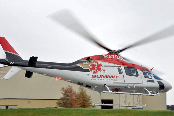 The EMS-configured AW119Kx is in service with Summit Air Ambulance in Idaho. Image: courtesy of Communication and Image Finmeccanica SpA.