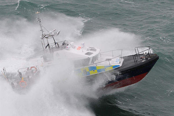 The 15m patrol boat has a full load displacement of 19.9t. Image: courtesy of Holyhead Marine Services Ltd.