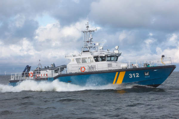 Swedish Coast Guard ordered five KBV class patrol boats in June 2009. Image courtesy of Baltic Workboats AS.