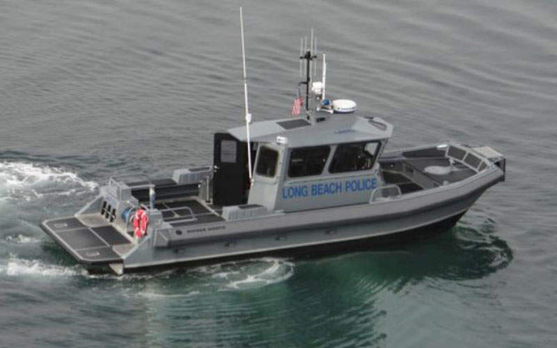 The Long Beach Police Department took delivery of a 35ft dive / patrol vessel in December 2013.