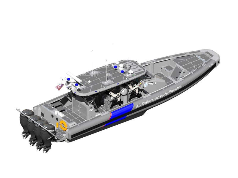 The US Customs and Border Protection signed a contract for a variant of 41ft Center Console-Offshore vessel in July 2015. Image courtesy of SAFE Boats International, LLC.
