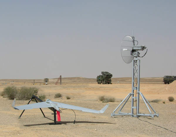 An Orbiter Mini UAV demonstrates its abilities during a live-fire artillery exercise in Southern Israel.