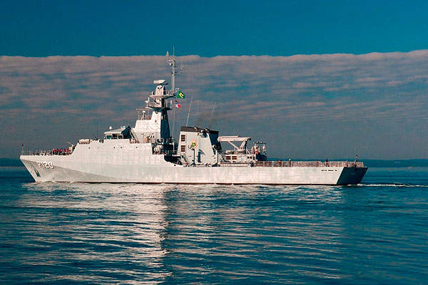 The P120 OPV was constructed at Portsmouth facility and arrived in Rio de Janeiro in October 2012. Image courtesy of BAE Systems.