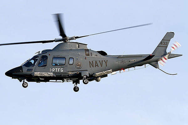 The AW109 Power is also in service with the Philippine Navy. Image courtesy of Fabrizio Capenti.