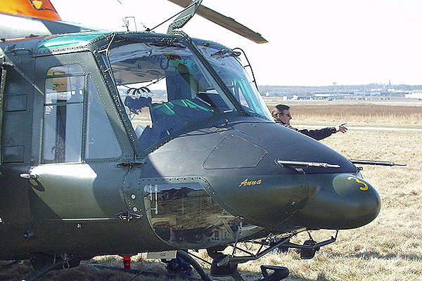 A Bell 412 helicopter of the Swedish Armed Forces. Image courtesy of Tonyingesson.
