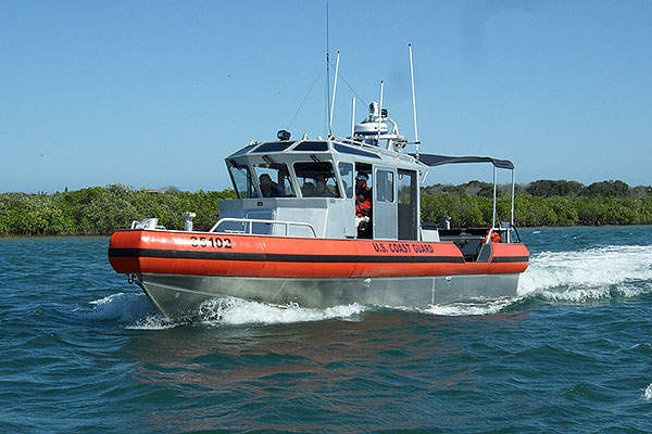The LRI-II boat is powered by two Cummins Tier III 6.7L diesel engines. Image courtesy of U.S. Coast Guard.