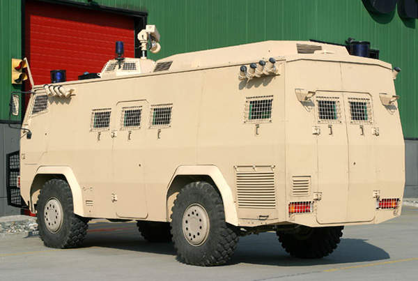 A rear view of the Otokar Armoured Internal Security Vehicle (IS-V).
