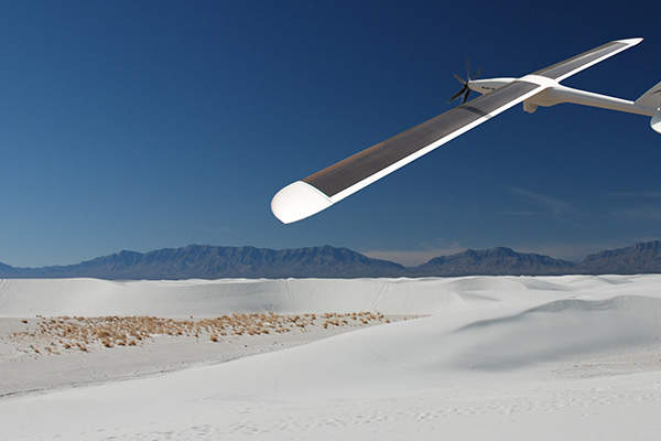 The UAS is powered by Ascent Solar Technologies' thin film photovoltaic modules.