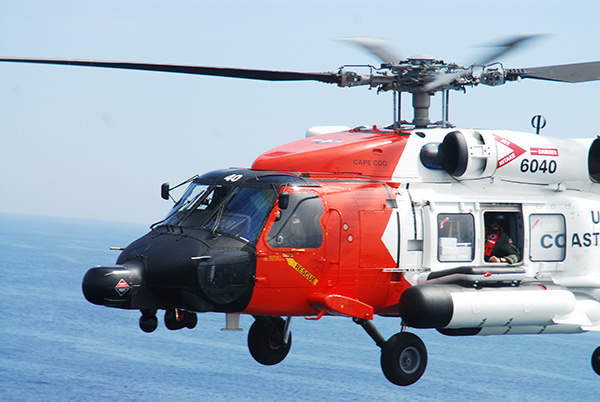 The MH-60T medium-range helicopter is primarily intended for search and rescue and law enforcement missions. Image courtesy of the US Coast Guard.