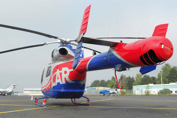 The MD Explorer helicopter incorporates the NOTAR (NO TAil Rotor) system. Image courtesy of Jérôme Paillaugue.