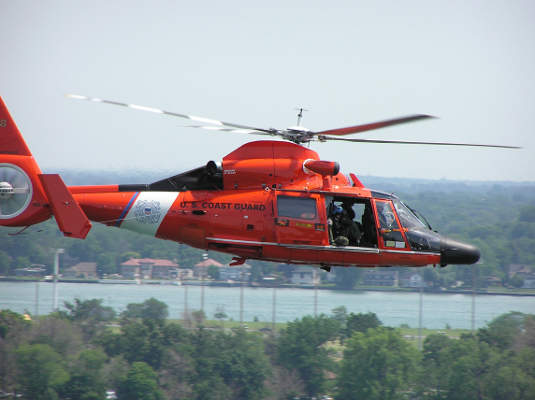 The MH-65C Short Range Recovery (SRR) helicopter can fly at a  maximum speed of 175kt. Image courtesy of Coast Guard photo by Michael Dziekan.