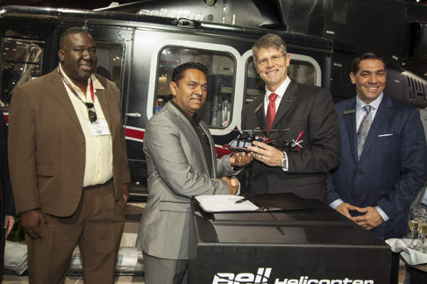 The National Operations Centre, Air Division in Trinidad and Tobago ordered one Bell 412EPI helicopter in March 2015.