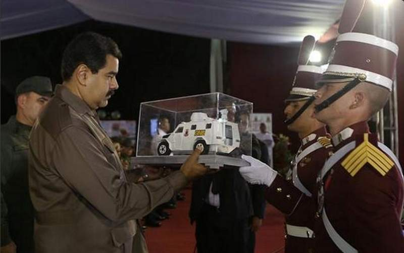A mock-up of the VN4 armoured vehicle. Image courtesy of la Guardia Nacional Bolivariana.