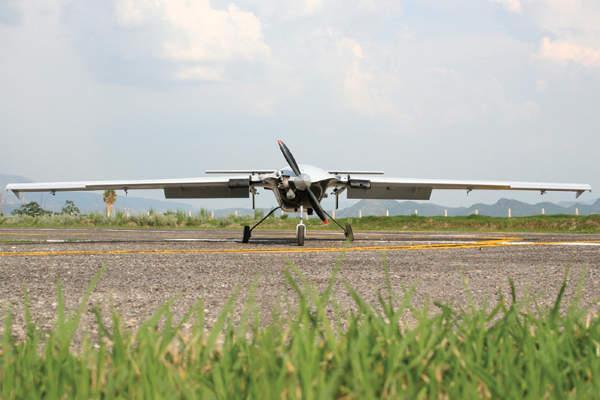 A close forward view of the S4 Ehécatl UAV. Image courtesy of Hydra Technologies of Mexico S.A. de C.V.