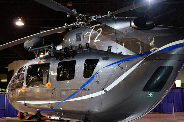The EC145 T2 multi-role helicopter was unveiled in March 2011. Photo: courtesy of Airbus Helicopters.