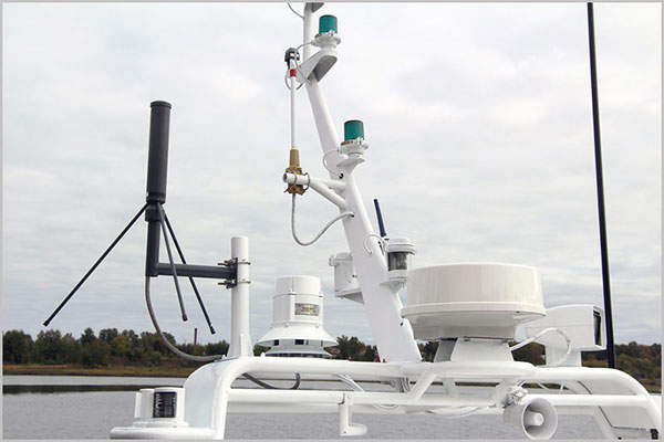 The light frontier boat is equipped with POISK MR-415 navigational radar. Image: courtesy of Vympel Shipyard JSC.