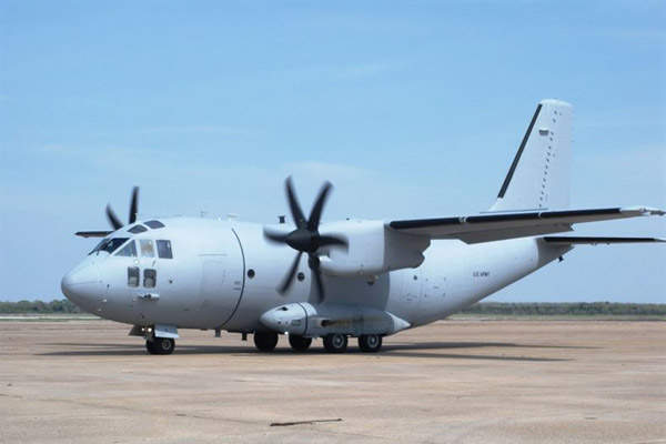 The HC-27J is a modified surveillance variant of a former USAF C-27J Spartan tactical transport aircraft. Image courtesy of US Air Force.