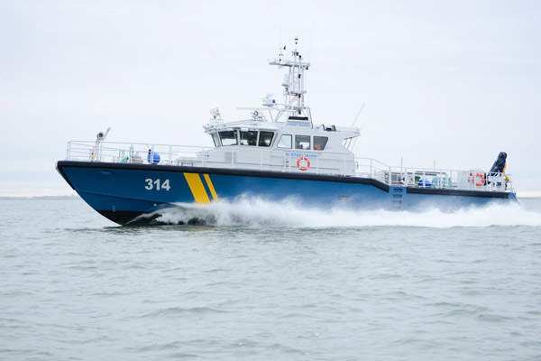 The third patrol vessel (KBV 314) was handed over to the Swedish Coast Guard in November 2012. Image courtesy of Baltic Workboats AS.