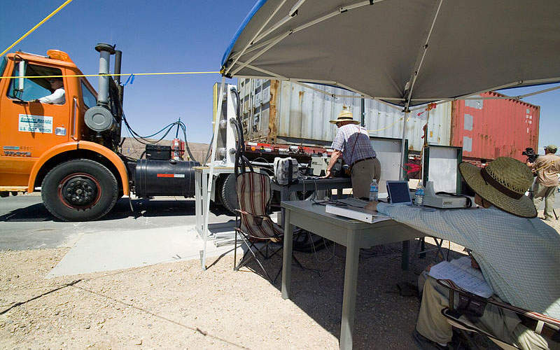 The RadSeeker is suited for applications such as border protection, customs inspection, and monitoring of radiological facilities. Image courtesy of National Nuclear Security Administration / Nevada Site Office.