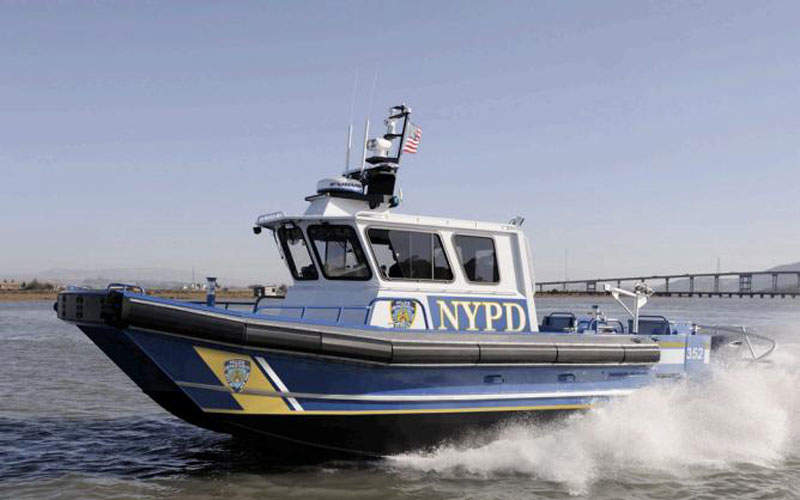 The New York City Police Department's 35ft patrol boat is designed to conduct patrol and search-and-rescue duties in New York Harbor as well as in East and Hudson Rivers.