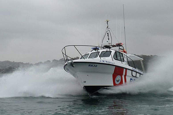 The Steber 38 marine rescue vessels are equipped with Raymarine navigation equipment. Image courtesy of Steber International.