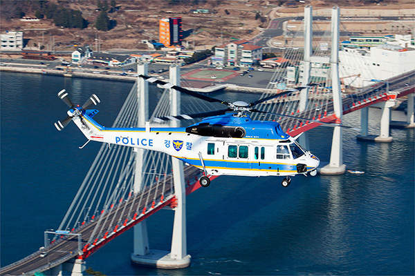 The Surion police helicopter features crashworthy airframe. Image courtesy of Korea Aerospace Industries.