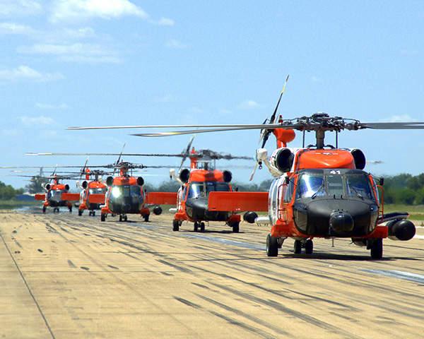 The US Coast Guard (USCG) operates a fleet of 42 MH-60J/MH-60T helicopters. Image courtesy of the US Coast Guard.