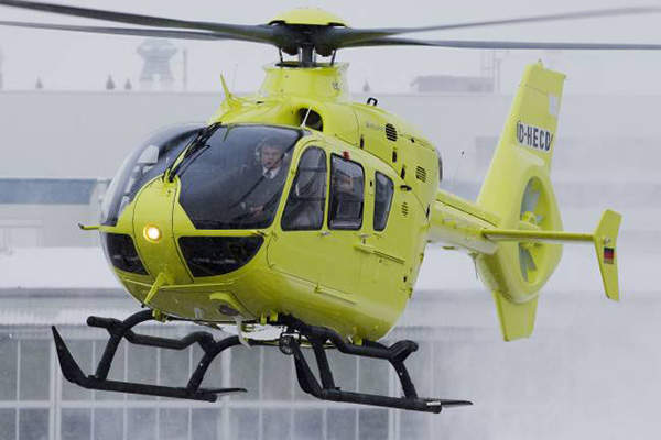 Eurocopter EC135 helicopter has a maximum take-off weight of 2,910kg.