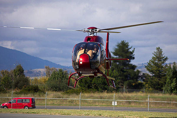 The cockpit of the Eurocopter EC120 B Colibri can house two crew members. Image courtesy of Bidgee.