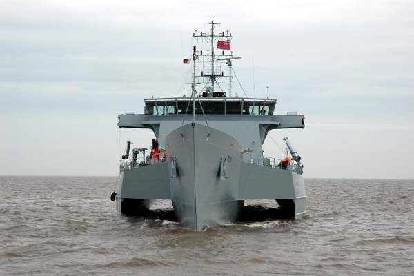 The ACV Triton entered into service with the Australian Customs and Border Protection Service in February 2007. Image courtesy of Australian Customs and Border Protection Service, copyright - Qinetiq (UK).