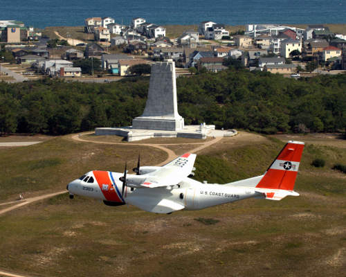 The HC144 Ocean Sentry can remain airborne for more than 10 hours. Image courtesy of USCG photo / Dave Silva.