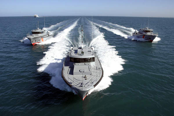 Three 22m personnel transport patrol boats are in service with the Kuwait Coast Guard. Image courtesy of Austal.