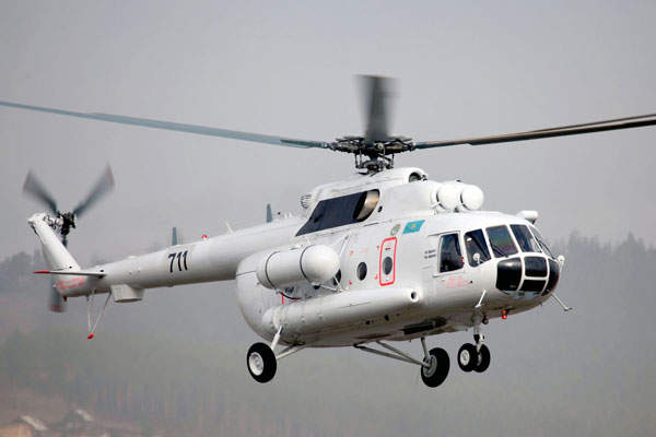 A Mi-8AMT helicopter was delivered to the Almaty City Rescue Service of Kazakhstan in October 2014. Image: courtesy of Russian Нelicopters, JSC.