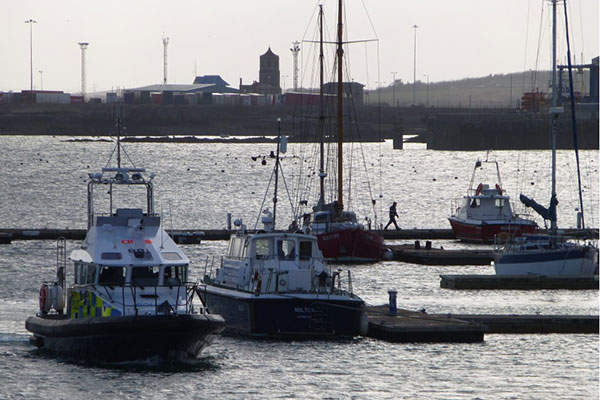 The 15m police patrol boat has a speed of 33kt. Image: courtesy of Holyhead Marine Services Ltd.