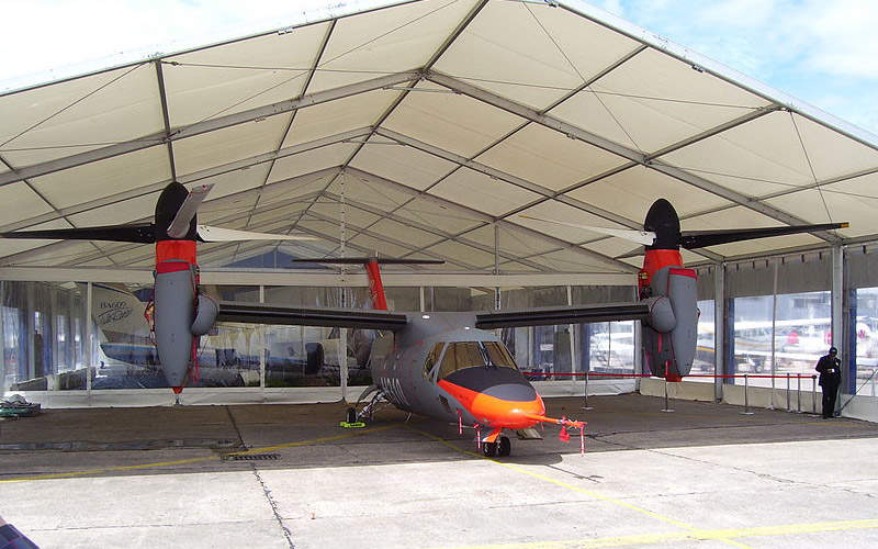 The AW609 (formerly BA609) seen during the Paris Air Show 2007.