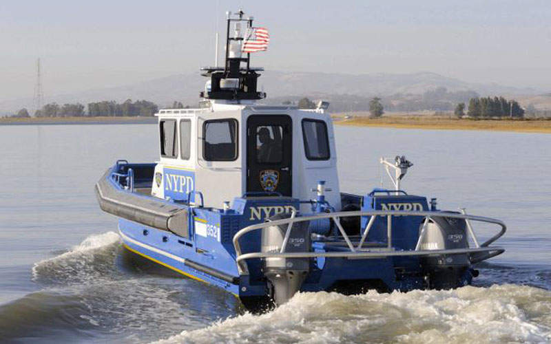 The 35ft catamaran patrol vessel can accommodate up to four personnel.
