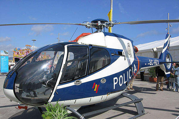 An EC120 B helicopter of the Spanish National Police. Image courtesy of Darz Mol.