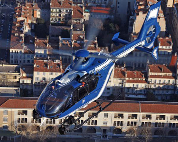 The French Gendarmerie uses EC135 helicopters for police and medical evacuation missions.