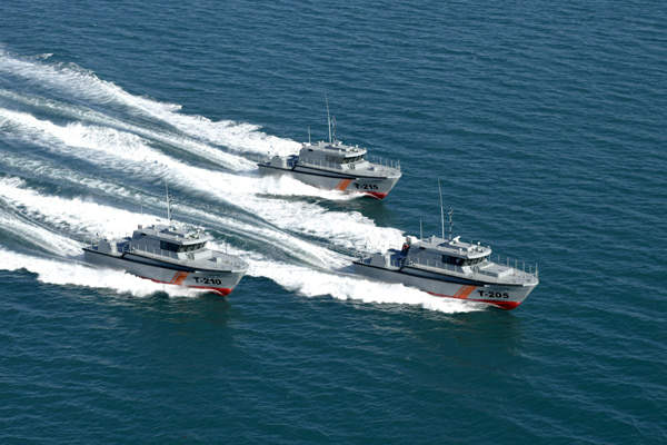 The 22m personnel transport patrol boat offers a maximum speed of 25kt. Image courtesy of Austal.