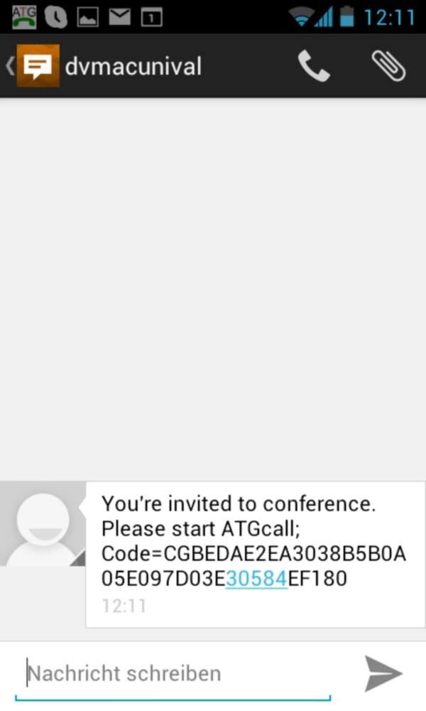 ATGcall conference key