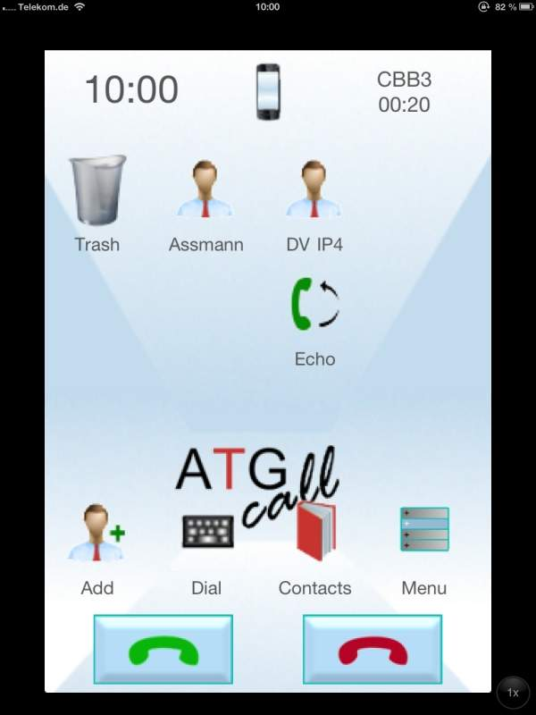 ATGcall user interface