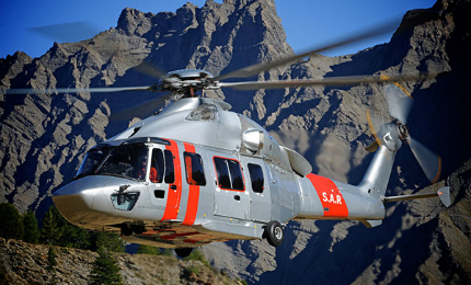The H175 twin-engine helicopter was developed by Airbus Helicopters.
