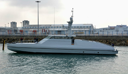 HSI 32 interceptor vessel